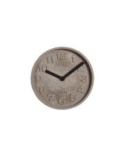 Zegar CONCRETE TIME BLACK 8500028 Zuiver betonowy zegar wiszący z czarnymi wskazówkami