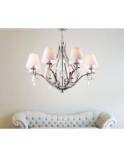 Lampa wisząca żyrandol Palace P0111 oprawa wisząca klasyczna biały abażur Maxlight