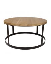 Stolik minimalistyczny stalowy Reno z dębowym blatem take me Home
