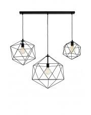 Lampa wisząca Wire Listwa 3 10535302 oprawa wisząca nowoczesna czarna Kaspa