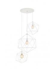 Lampa wisząca Wire 3 10539301 oprawa wisząca nowoczesna biała Kaspa