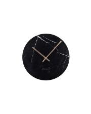 Zegar MARBLE TIME BLACK 8500033 Zuiver marmurowy zegar ścienny w kolorze czarnym