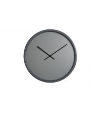 Zegar TIME BANDIT 8500007 Zuiver szary, matalowy zegar ścienny