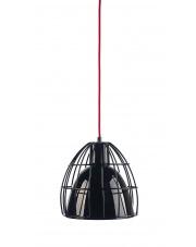 Lampa wisząca Frame M 10339102 oprawa wisząca nowoczesna czarny połysk / przewód czerwony Kaspa
