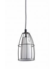 Lampa wisząca Frame S 10331101 oprawa wisząca nowoczesna biały mat / przewód biało-czarny Kaspa