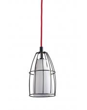 Lampa wisząca Frame S 10332101 oprawa wisząca nowoczesna biały mat / przewód czerwony Kaspa
