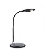 Lampa biurkowa Textur LED 106640 oprawa stojąca srebrna Markslojd