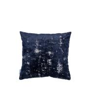 Poduszka SARONA NIGHT BLUE 8600046 Zuiver ciemnoniebieska poduszka w stylu vintage