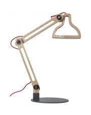 Lampa biurkowa LED-IT-BE 5200004 Zuiver drewniana lampka biurkowa z wbudowanym ledem na regulowanym ramieniu wykonana z litego drewna jesionowego