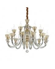 Żyrandol Strauss 140629 Ideal Lux stylowa szklana oprawa wisząca