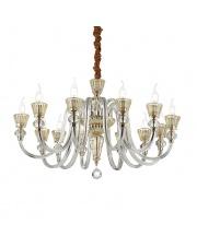 Żyrandol Strauss 140612 Ideal Lux stylowa szklana oprawa wisząca