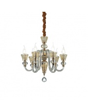 Żyrandol Strauss 140605 Ideal Lux stylowa szklana oprawa wisząca