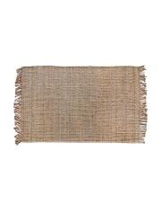 Dywan NATURAL JUTE RUG 120x180 TTK3015 HK Living naturalny dywan z frędzlami wykonany z juty