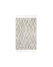 Dywan łazienkowy BATH MAT M 60x90 TAP0854 HK Living mały biało - szary prostokątny dywanik łazienkowy z frędzlami