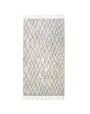 Dywan łazienkowy BATH MAT L 90x175 TAP0853 HK Living duży biało - szary prostokątny dywan łazienkowy z frędzlami