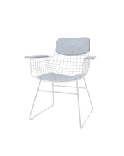 Zestaw COMFORTS KIT ARM CHAIR LIGHT GREY TAA1286 HK Living siedzisko, oparcie oraz podłokietniki w kolorze jasnoszarym do krzesła WIRE ARM CHAIR