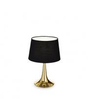 Lampa stołowa London Small Ottone 110578 Ideal Lux czarno-mosiężna oprawa stołowa w stylu nowoczesnym