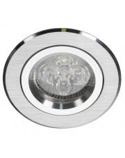 Oprawa sufitowa Alcoy 540.SC Lumifall okrągłe srebrno-chromowe oczko sufitowe