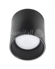 Oprawa sufitowa CilindroLED II Lumifall czarna oprawa natynkowa tuba