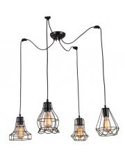 Lampa wisząca Imperia LP-2309/4P BK Light Prestige oprawa wisząca w stylu industrialnym