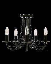 Żyrandol Perła LP-020/5P BK Light Prestige oprawa sufitowa w stylu design