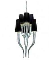 ŻARÓWKI LED GRATIS!! Lampa wisząca Diablo AD8074-3+3 BK AZzardo nowoczesna stylowa oprawa wisząca