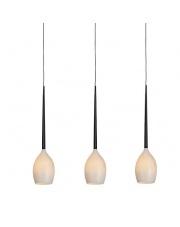 ŻARÓWKA LED GRATIS!!  Lampa wisząca Izza 3 MD1288B-3W AZzardo designerska szklana oprawa wisząca