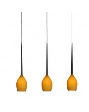 ŻARÓWKA LED GRATIS!!  Lampa wisząca Izza 3 MD1288B-3MA AZzardo designerska szklana oprawa wisząca