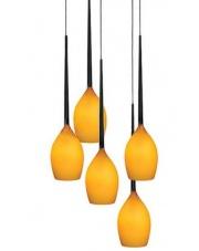 ŻARÓWKI LED GRATIS!! Lampa wisząca Izza 5 MD1288A-5AM AZzardo designerska szklana oprawa wisząca