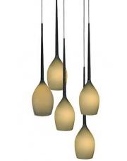 ŻARÓWKI LED GRATIS!! Lampa wisząca Izza 5 MD1288A-5OL AZzardo designerska szklana oprawa wisząca