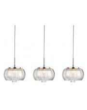 Lampa wisząca Rego 3 3957-3P AZzardo potrójna szklana dekoracyjna oprawa wisząca