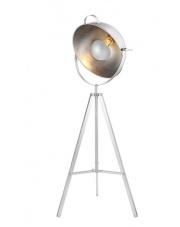 Lampa podłogowa Toma BP-8055-WH AZzardo nowoczesna biało-srebrna oprawa stojąca