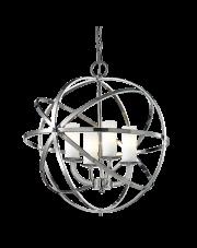 Lampa wisząca Orlando P04820CH COSMOLight stylowa oprawa wisząca w kształcie kuli