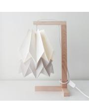 Lampa stołowa Polar White with Light Grey Stripe Orikomi papierowa oprawa stołowa w stylu design