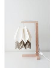 Lampa stołowa Polar White with Light Taupe Stripe Orikomi papierowa oprawa stołowa w stylu design