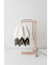 Lampa stołowa Polar White with Alpine Grey Stripe Orikomi papierowa oprawa stołowa w stylu design