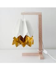 Lampa stołowa Polar White with Warm Gold Stripe Orikomi papierowa oprawa stołowa w stylu design