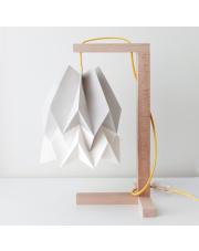 Lampa stołowa Light Grey with Polar White Stripe Orikomi papierowa oprawa stołowa w stylu design