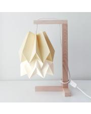Lampa stołowa Pale Yellow with Polar White Stripe Orikomi papierowa oprawa stołowa w stylu design