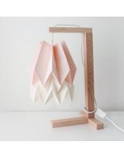 Lampa stołowa Pastel Pink with Polar White Stripe Orikomi papierowa oprawa stołowa w stylu design