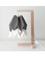 Lampa stołowa Alpine Grey with Polar White Stripe Orikomi papierowa oprawa stołowa w stylu design