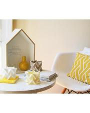 Tealights Polar White | Pale Yellow | Light Taupe Orikomi zestaw trzech dekoracyjnych papierowych świeczników