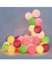 Kompozycja kolorowych kul LED Candy Cotton Ball Lights
