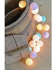 Kompozycja kolorowych kul LED Pastel by Pipilota Cotton Ball Lights