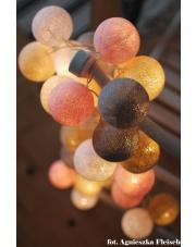 Kompozycja kolorowych kul LED Pastels by Pretty Pleasure Cotton Ball Lights