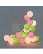 Kompozycja kolorowych kul LED Spring Cotton Ball Lights