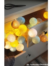 Kompozycja kolorowych kul LED Sunny Turqouise Cotton Ball Lights