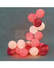 Kompozycja kolorowych kul LED Sweet Pink Cotton Ball Lights