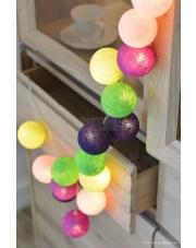 Kompozycja kolorowych kul LED Uva Cotton Ball Lights