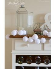 Kompozycja kolorowych kul LED Pure white Cotton Ball Lights